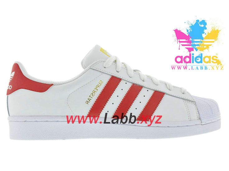 Adidas Chaussures Homme/Femme Originals Superstar Foundation White Scarlet  B27139 Officiel Superstar - 1605280485 -