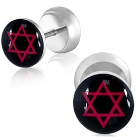 Falešný piercing - symbol Satana PFA00227 http://www.piercingate.cz/falesny-piercing-symbol-satana-pfa00227