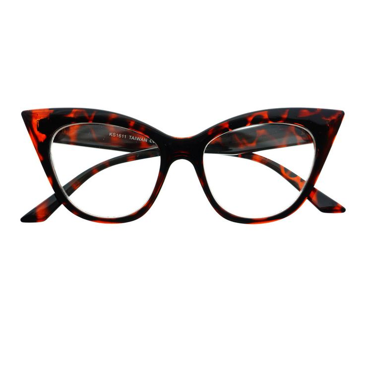 Retro Vintage Womens Fashion Clear Lens Cat Eye Glasses Frames C1150 - FREYRS - Beautifully designed, cheap sunglasses for men & women - 6