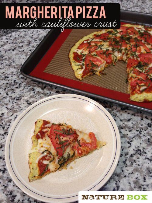 Margherita Pizza with cauliflower crust! Gluten-free pizza crust!Gluten-free pizza crust!