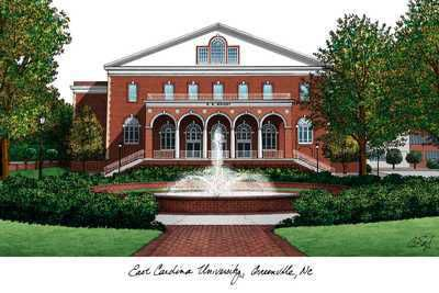 East Carolina University Campus | ECU East Carolina University Campus Landmarks Art Print