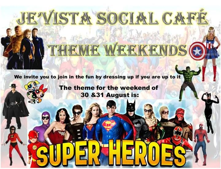 Our past themes - Super Heroes. Head on over to our Facebook Page for updates on themes and photos.