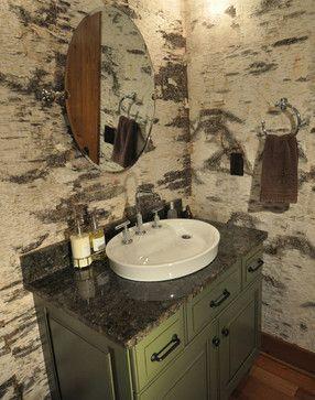 Bark House® Veneer Laminates - White Birch Laminate - rustic - Wallpaper - Charlotte - Bark House
