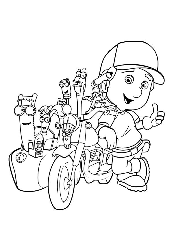 top 25 handy manny coloring pages your toddler will love - Handy Manny Hammer Coloring Pages