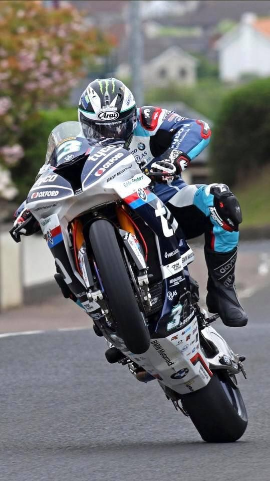 Wrestling the superbike in typical Michael Dunlop fashion