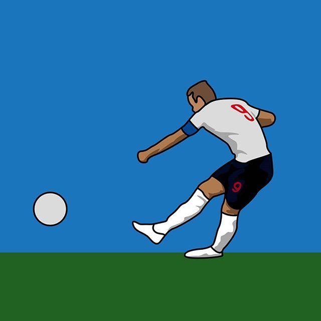 Reposting Bluedeerdesign Hat Trick From Harry Kane Football Illustration English Football League Soccer Skills