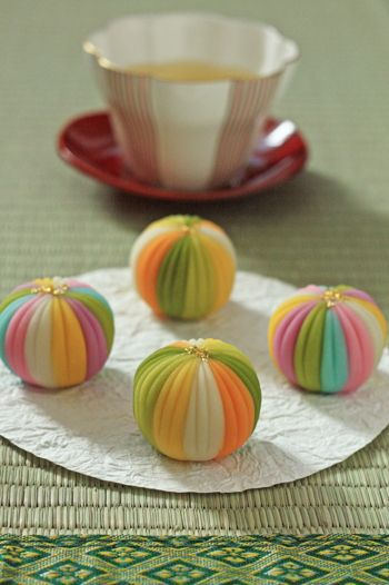 Japanese sweets, Rainbow Wagashi