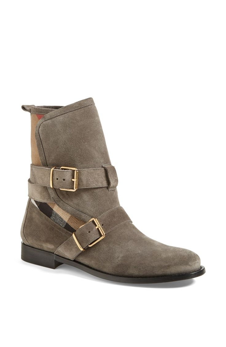 It's instant love with these Burberry 'Worcester' belted suede boots.