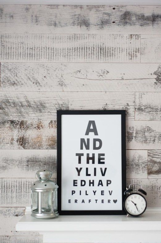 Eye Charts aren't just for the Opthamologist anymore! Design your own modern and Scandinavian decor by creating a poster using a meaningful quote! Easy tutorial!