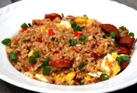 American Chinese Food   Arroz Chaufa - Chinese Peruvian Fried Rice - Recipe for Arroz Chaufa