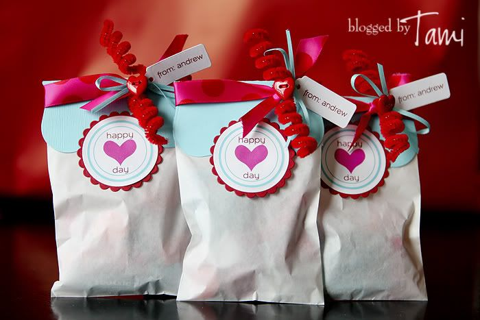 Valentine's Day gift bags for school/friends
