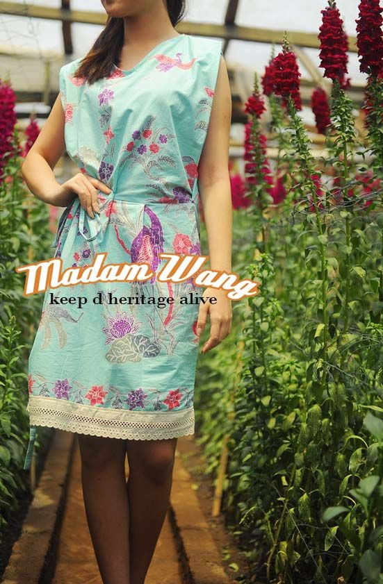turquoise batik dress