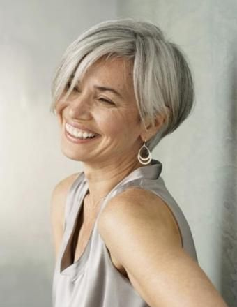 Gray Hairstyles layered gray hairstyle Debra Roberts At This Time I Dont Know Who This Is But I Short Gray Hairstylesbob