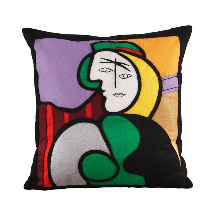 handmade felt cushions-picasso  https://www.facebook.com/NabuNabu.Handcraft