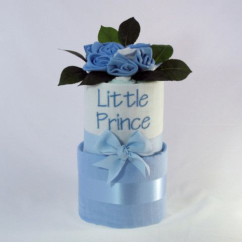 Little #Prince #baby #nappycake  Two tier nappy cake.