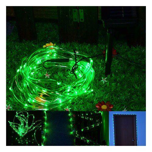 Manguera de 50 luces led solares navidad colores - Luces de jardin solares ...