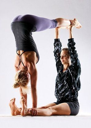 Want to try this! #couplesyoga
