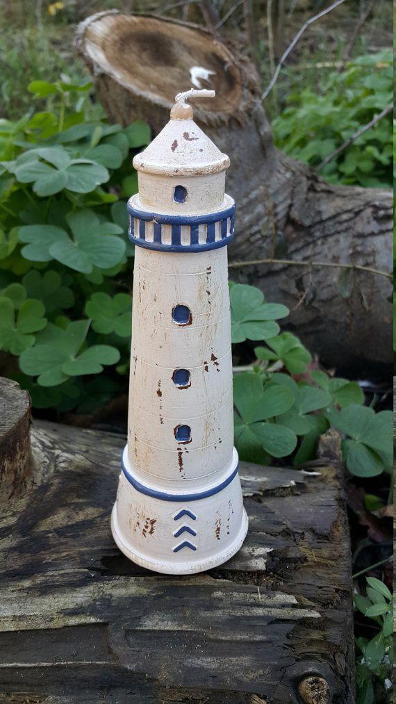 Bougie décorative phare par DERYADAGIFT sur Etsy