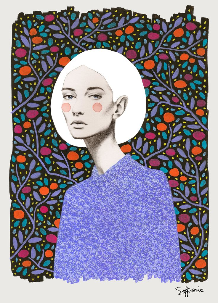 Sofia bonati illustrations illustration for Zimmerdekoration