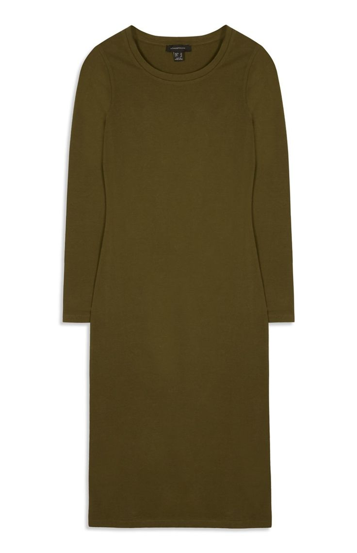 Primark - Khaki Bodycon Midi Dress