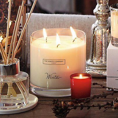 Easily the best smelling candle in the world!  I like the winter scent from bath and body. I love 3 wick candles.