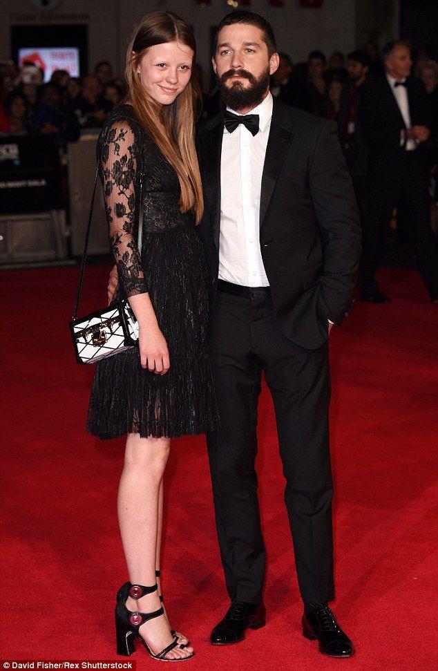 Mia Goth and former fiance Shia Labouf