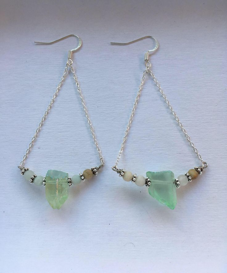 A few new silver pieces in my #etsy shop: Green Quartz and Amazonite Silver Chandelier Earrings http://etsy.me/2Cx0Wnz #jewelry #earrings #silver #wedding #greenquartz #quartz #quartz earrings #boho #danglequartzearrings #quartzdangleearrings #quartzsilverearrings