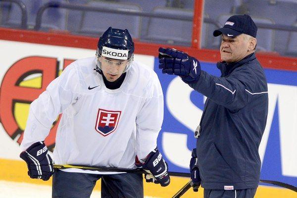 they are both kings -  Miroslav Šatan s trénerom Vladimírom Vujtkom