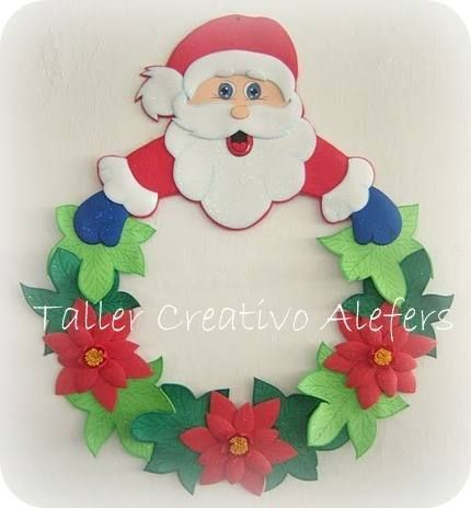 adornos navideos 2012 en foami nocturnar goma eva