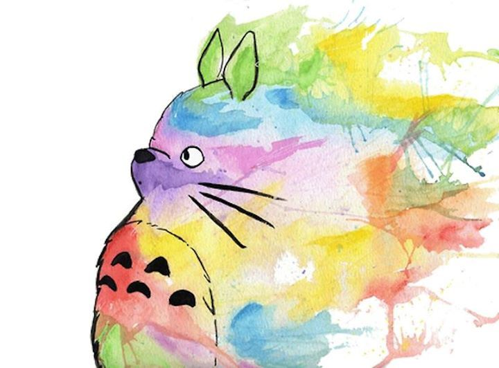 The colorful Totoro