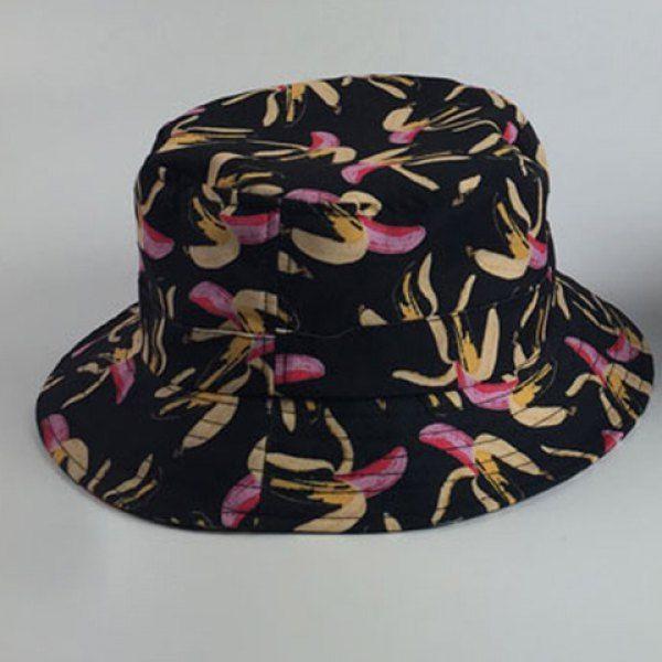 Chic Peeled Bananas Pattern Women's Black Bucket Hat #CLICK! #clothing, #shoes, #jewelry, #women, #men, #hats