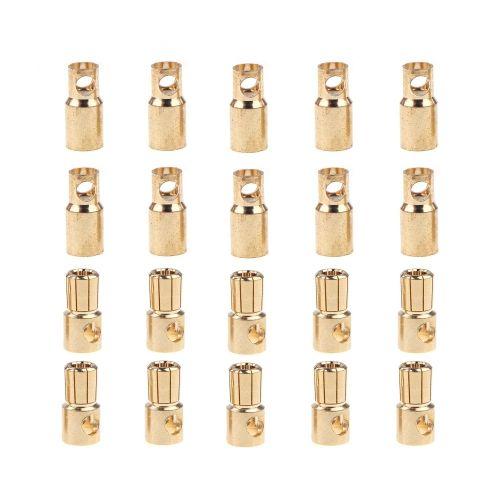 10 Pairs 6.0mm Copper Bullet Banana Plug Connectors Male + Female for RC Motor ESC Battery Part