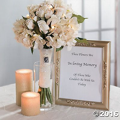 In Loving Memory Wedding Bouquet Idea