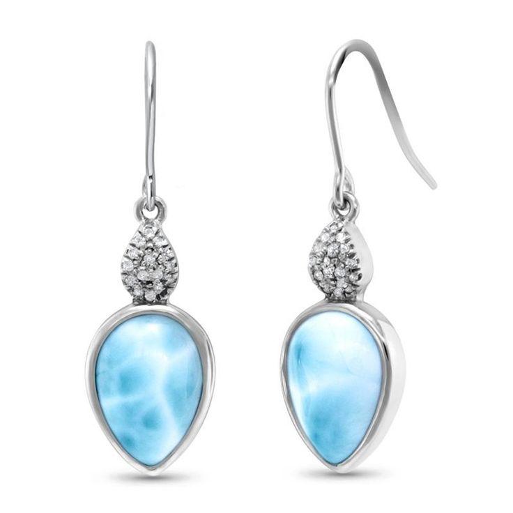 Bliss Pear White Sapphire Earrings - Eblis0P-00