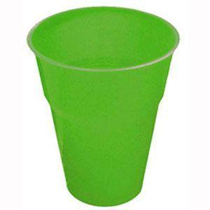 FS5026LG - Lime Green Plastic Cups. Pack of 8 Plastic Lime Green Cups. Pack of 8