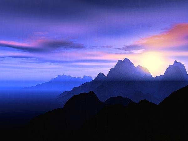 "Bildwerk ""Misty Mountains"""