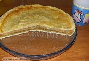 Jablkový koláč s pudinkem z list. těsta