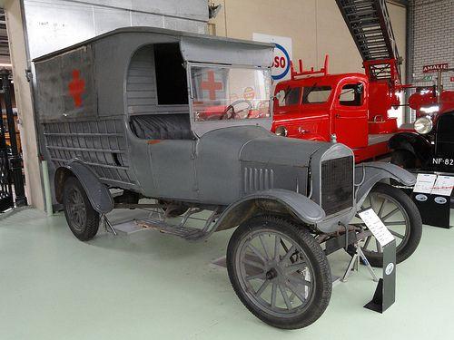 1921 Ford Model T Red Cross Ambulance