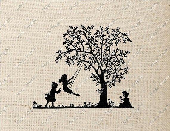 wooden tree swing tattoo - Google Search