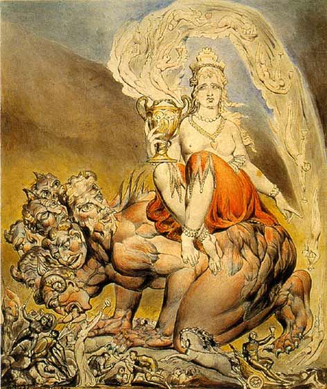 Whore of Babylon. Painted by William Blake in 1809...
