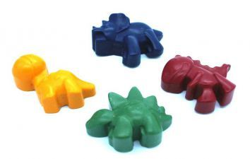 Dinosaur Shaped Handmade Crayon - Available from Fabulous Partyware now!