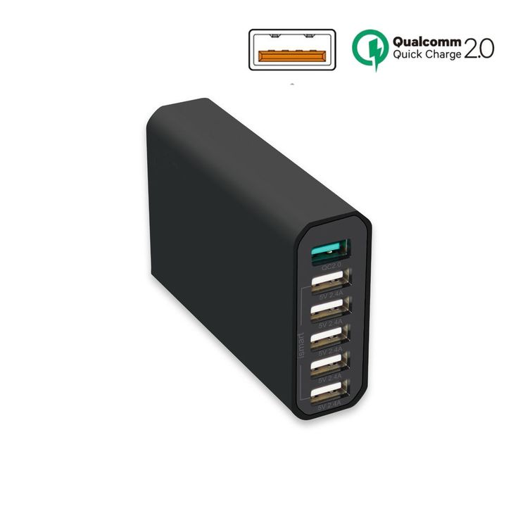 Multi USB 6 Port Wall Charger Power Adapter Desktop Rapid Charging Station Dock #HOREVO