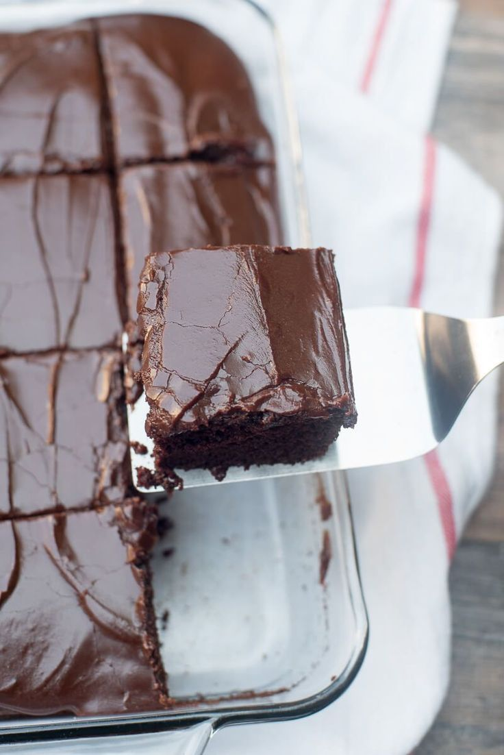 Nearly as easy to make as a boxed mix! This tried and true recipe is perfect for satisfying those intense chocolate cravings. ~ www.fromvaleriesk...