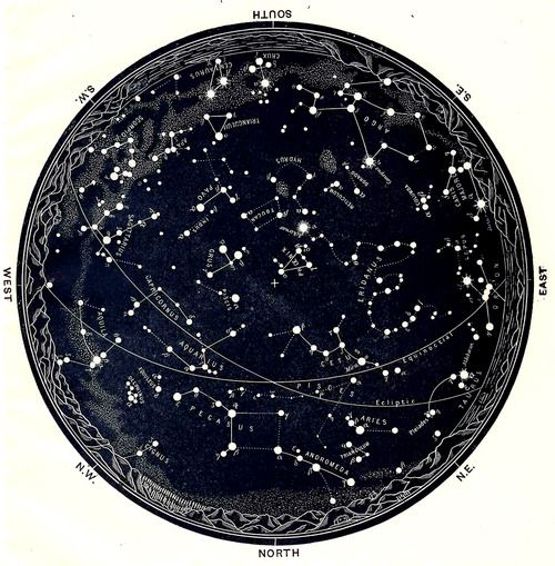 celestial constellation map