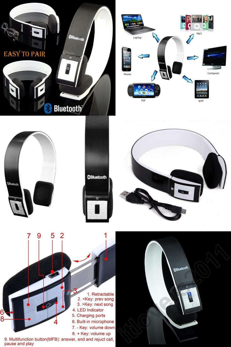 [Visit to Buy] Noise Reduction wireless Bluetooth stereo Headphones Bluetooth 3.0 adjustable Headset with MIC for iPhone for Ipad for Tablet PC #Advertisement