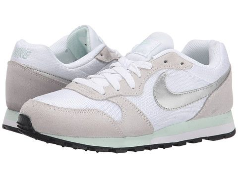 Nike MD Runner 2 White/Fiberglass/Pure Platinum/Metallic Silver - Zappos.com Free Shipping BOTH Ways