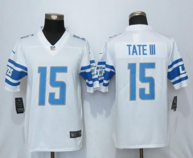 Men Detroit Lions 15 Tate lll White Vapor Untouchable New Nike Limited  Player 24d76034b