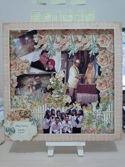 "belongs to Najmi 30x30 wedding scrapbook using ""secret garden"" from Graphic 45"