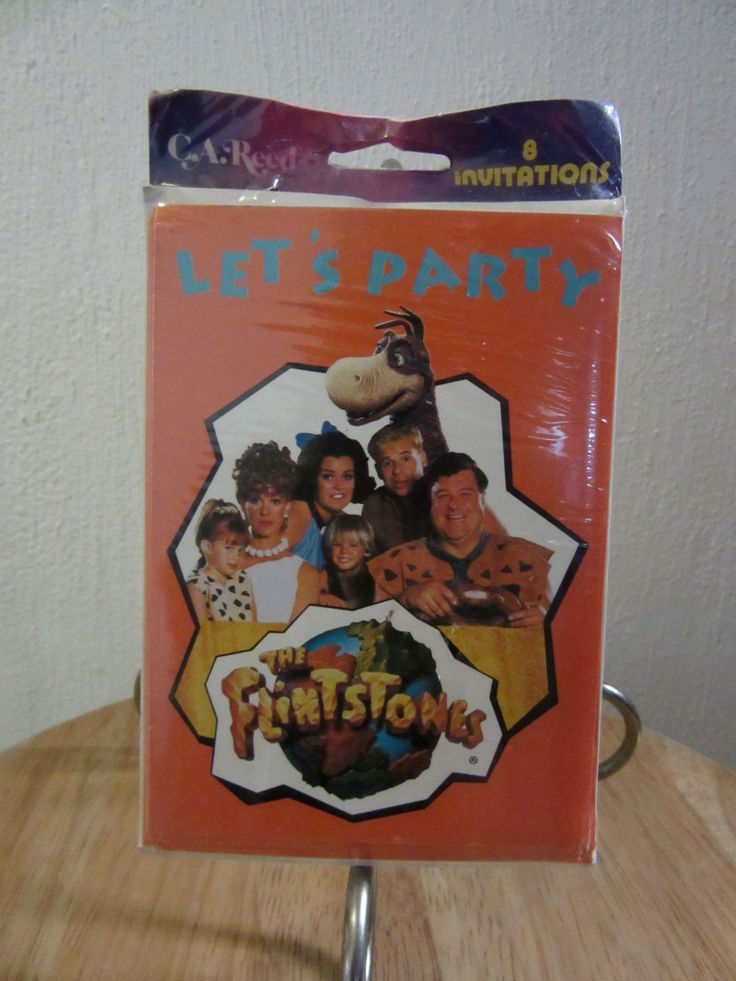 The Flintstones Movie Party Invitations, The Flintstones Party Invitations, Vintage Party Invitations, 1994  Flintstones Movie by UNBROKENPAST on Etsy