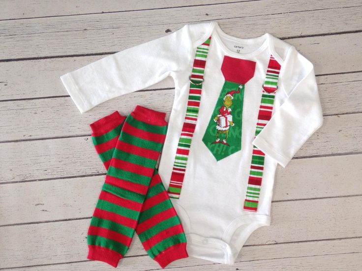Baby Boys Christmas Outfit Grinch, Baby Boy Clothes, Baby Boy Leg Warmers, Baby…